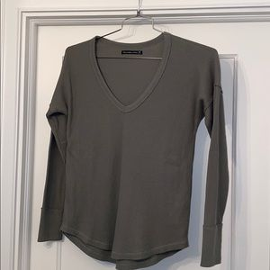 Abercrombie & Fitch Waffle Long Sleeve T-Shirt